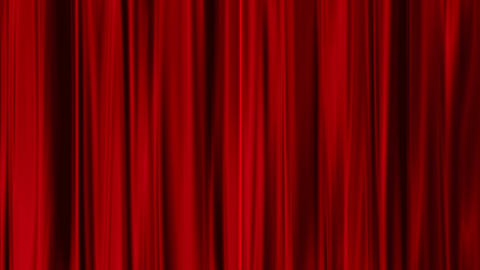 Red Curtains open, isolated on green screen, Stock Animation