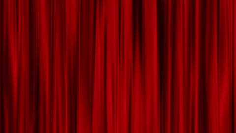 Red Curtains open, isolated on green screen Stock Video Footage