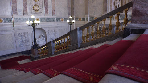 The Main Staircase In The Mikhailovsky Castle. 4K stock footage