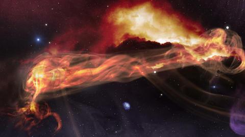 fly along space gas nebula 11616 Animation
