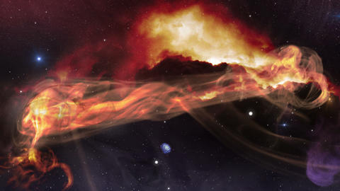 fly along space gas nebula 4k UHD 11616 Animation