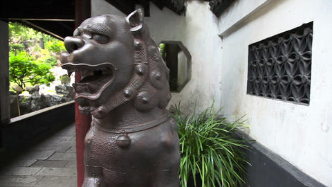Yuyuan Garden Slider Filming 8405 stock footage
