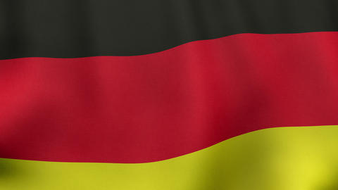 4K UltraHD Loopable waving German flag animation Animation
