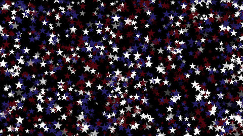 Stars particle background,USA United States American flag five-pointed star Footage