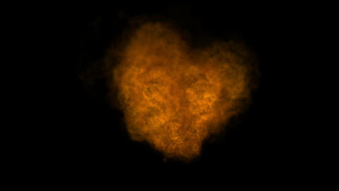 Hot Fire burning background,Abstract powerful particle smoke power energy Live Action
