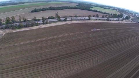 Flight over Potato field Footage
