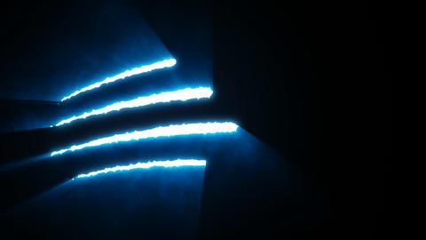 Claw Slashes Horizontal Blue Animation