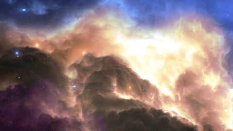 fly to glowing gas nebula in space 4k UHD 11618 Animation