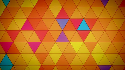 Triangle Polygon Loop 03 Summer Animation