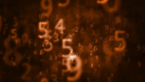 2K Numbers Background 1 stock footage