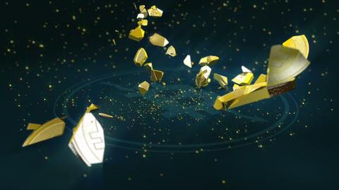 Bitcoin currency crash Animation