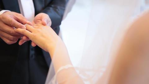 ウェディング素材|指輪交換・マリッジリング・Marriage Ring| stock footage