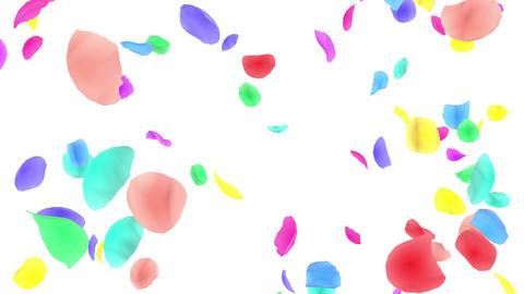 Flower petals rainbow tornado G 2w 4 K CG動画