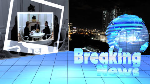 Breaking News Broadcast TV Motion Hologram World stock footage