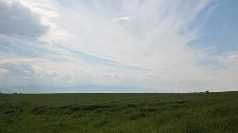 Grass Field And Clouds stock footage