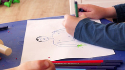 Kids Draw painting Footage