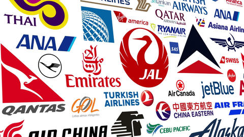 Airline Logo Loop stock footage