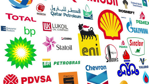 Oil Companies Logo Loop Animation