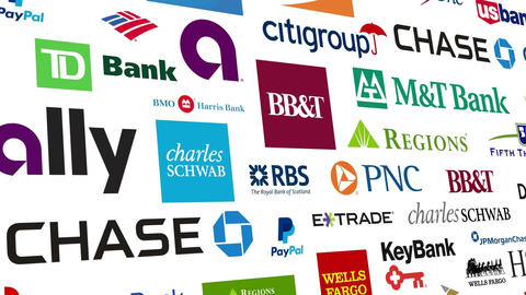 Banking Brands Logo Loop Animation