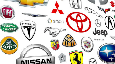 Auto Brand Logo Loop stock footage