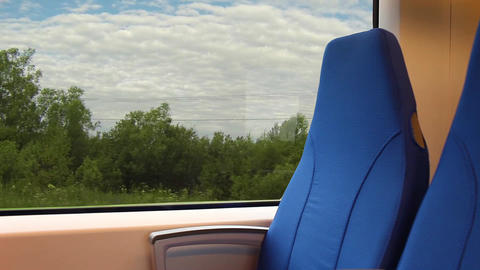 View from the window of a passenger train Footage