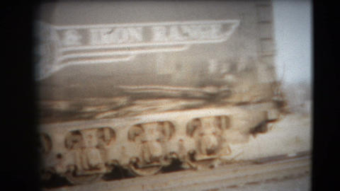 8mm Vintage - 60's Duluth Railroad Industry stock footage