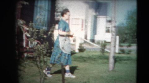 8mm Vintage - 60's Lady and Blooming Apple Tree Footage