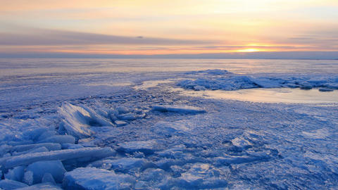 Sunset on the Gulf of Finland, St. Petersburg, Russia, timelapse. Full HD Footage