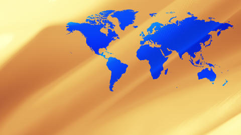 World earth map, golden abstract background 4k Animation
