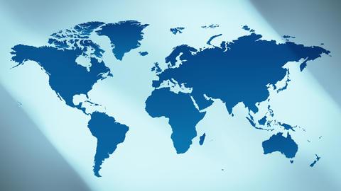 Futuristic world map title background 4k Animation