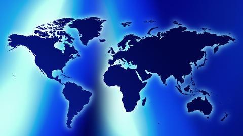 World map background futuristic title presentation concept Animation