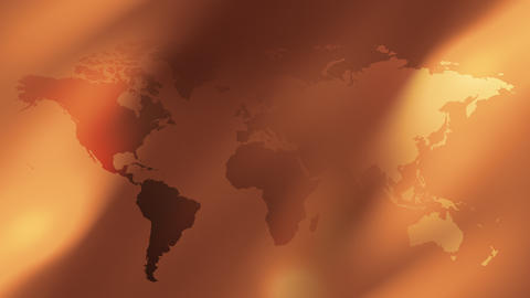 Gold World map abstract background Stock Video Footage
