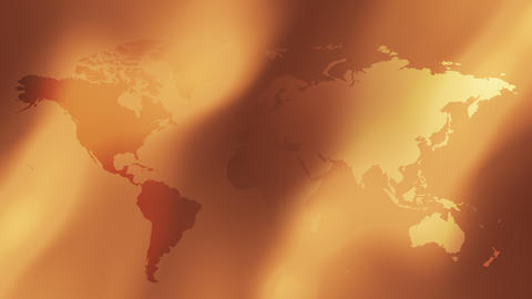 Gold World map abstract background Animation