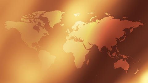 Earth map background gold concept Animation
