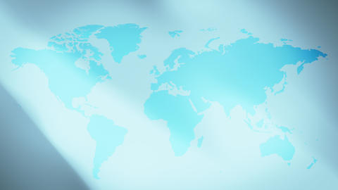 Continents World map and abstract background Animation