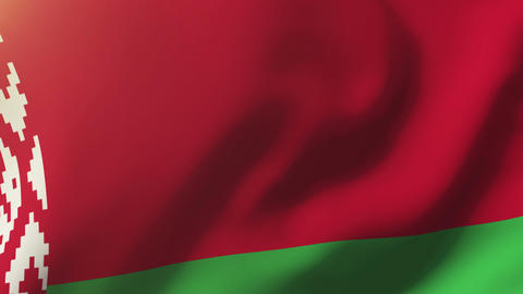 Belarus flag waving in the wind. Looping sun rises style. Animation loop Animation