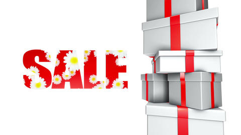Sale Spring Summer Gifts (Loop) stock footage