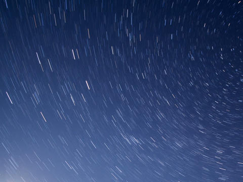 Starry sky with moon. Line. Time Lapse. 640x480 Footage