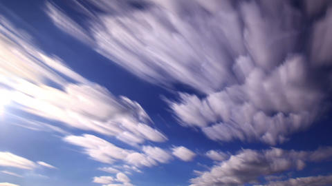 Bright clouds. Clouds blurred. 1280x720 Live Action