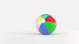 Bouncing Beach Ball stock footage
