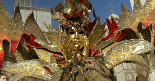 Venice mask Doge Palace 12 Footage