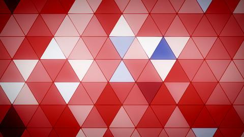 Triangle Polygon Loop 07 Patriotic Animation