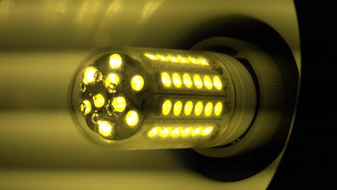 Led Light Corn Lamp Zooming With Flashing . 4K UltraHD, UHD stock footage