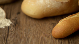 Rustic Bread And Wheat stock footage