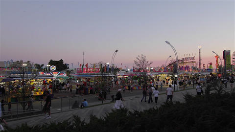 Amusement Park At Dusk stock footage