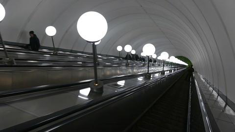 Metro Escalator, Move Down stock footage