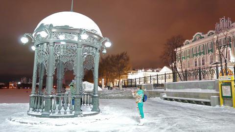 Iron arbor. Landmark. Ekaterinburg, Russia Stock Video Footage