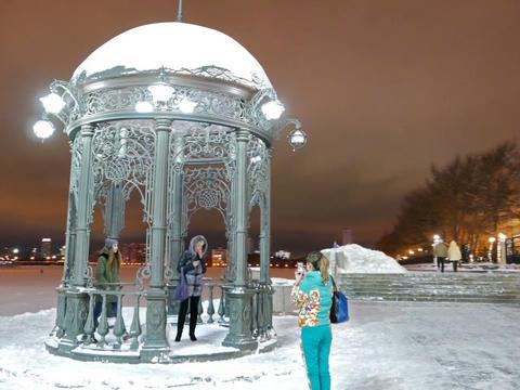 Iron arbor. Landmark. Ekaterinburg, Russia. 640x480 Footage