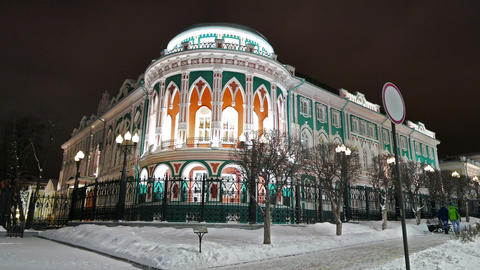 Residence of the governor. Ekaterinburg, Russia. 4K Stock Video Footage