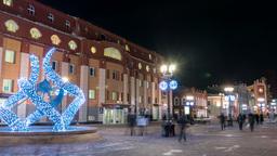 Pedestrian zone. Weiner Street. Ekaterinburg, Russia.... Stock Video Footage